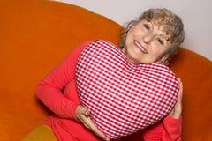 Oma met een hart Stock Fotografie