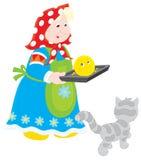 Oma met gebakken roly-Poly royalty-vrije illustratie