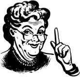 Oma weiß Lizenzfreie Stockfotos