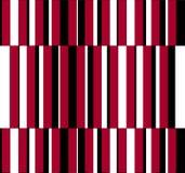 Omaggio di arte op a colore rosso uno delle bande verticali di GF Fotografie Stock