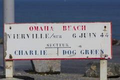 Omah海滩标志 库存图片
