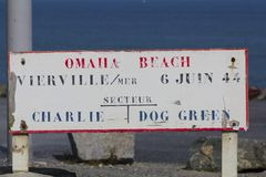 Omah Beach Sign Stock Image