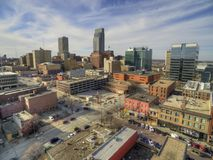 Omaha é Major Urban Center e uma cidade a maior no estado de Nebraska foto de stock