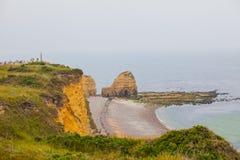 Omaha Beach is één van de vijf Landende stranden in Normandië l royalty-vrije stock afbeelding