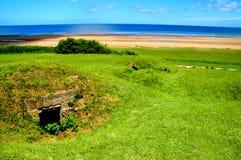 Omaha Beach bunker/Normady royaltyfri bild