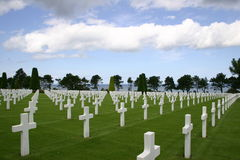 Omaha Beach Cemetary Royalty Free Stock Photo