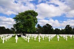 Omaha Beach Cemetery Arkivfoton