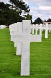 Omaha Beach Cemetery Royalty Free Stock Photos