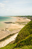 Omaha beach. With ruins of WW II in a sunny day - Normandy (France) 2012 royalty free stock photo