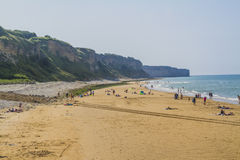 Omaha Beach. In Colleville Normandy Royalty Free Stock Photo