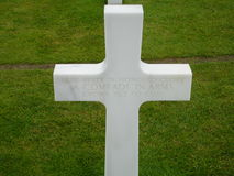 Omaha beach cross Stock Image