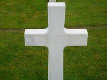 Omaha beach cross. A cross of the Omaha beach cemetery in Normandy, France Stock Image