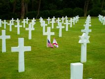 Omaha beach crosses Stock Photo