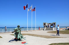 Omaha Beach, France Royalty Free Stock Images