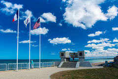 Omaha Beach Memorial stock photography