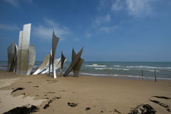 Omaha Beach memorial, France Royalty Free Stock Photo