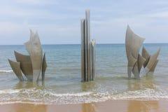 Omaha beach memorial Stock Photography