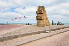 Omaha Beach Monument in Saint-Laurent-sur-Mer Normandy France stock photo