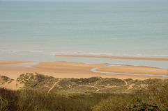 Omaha Beach no sur Mer de Colleville em Normandy Fotografia de Stock