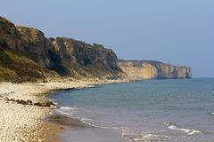 Omaha Beach, Normandy, France Stock Images