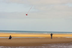 Omaha beach, - Normandy, France. Royalty Free Stock Image