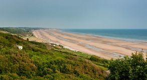 Omaha Beach in Normandy France royalty free stock photos