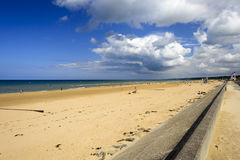 Omaha Beach on a sunny day Royalty Free Stock Image
