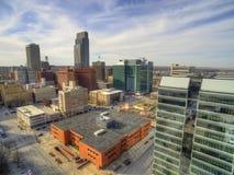 Omaha jest Ważnym centrum miejskim wielkim miastem w stanie Nebraska i obraz royalty free