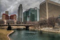 Omaha is Major Urban Center en een grootste Stad in de Staat van Nebraska royalty-vrije stock foto