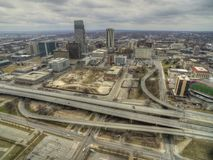 Omaha is a Major Urban Center and largest City in the State of Nebraska.  royalty free stock photo