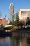 Omaha Nebraska Downtown City Skyline der Missouri stockbilder