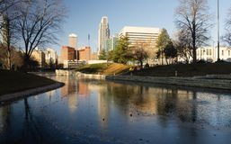 Omaha Nebraska Downtown City Skyline Missouri River Stock Images