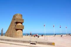 Omaha plaża, Francja zdjęcia stock