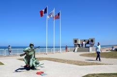 Omaha plaża, Francja obrazy royalty free