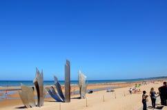 Omaha plaża, Francja obraz stock