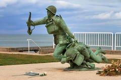 Omaha plaży 116th pułkowej grupy bojowa pomnik obraz royalty free