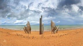 Omaha plaży zabytek chmurzący Zdjęcia Stock
