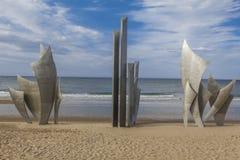 Omaha plaży pomnik Francja Fotografia Royalty Free