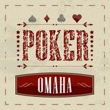 Omaha poker retro background for vintage design Royalty Free Stock Images