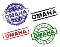 OMAHA Seal Stamps texturisé endommagé Illustration Stock