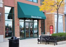 Omaha Steakhouse, Schaumburg, IL. Omaha Steakhouse is the original premier provider of quality hand-cut steaks, food gifts, seafood, wine and great side dishes stock photos
