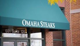 Omaha Steaks, erstklassige in Handarbeit gemachte Steaks stockbilder
