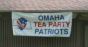 Omaha Tea Party Patriots sign at Tea Party Rally Stock Image