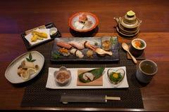 Omakase集合菜单 免版税库存图片