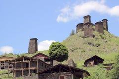 Omalo村庄 Tusheti地区(乔治亚) 图库摄影