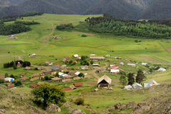 Omalodorp, Tusheti-gebied (Georgië) royalty-vrije stock foto's