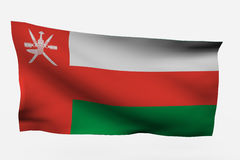 Oman 3d flag. Isolated on white background Stock Images