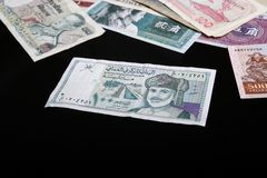 Oman Banknotes Stock Images