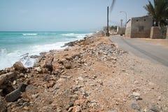 Oman beach. A beautiful beach close to city Sur, Oman royalty free stock photos