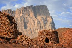 Oman: Beehive tombs Royalty Free Stock Photos